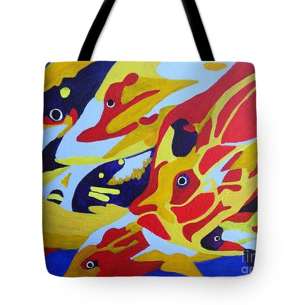 Fish Shoal Abstract 2 Tote Bag