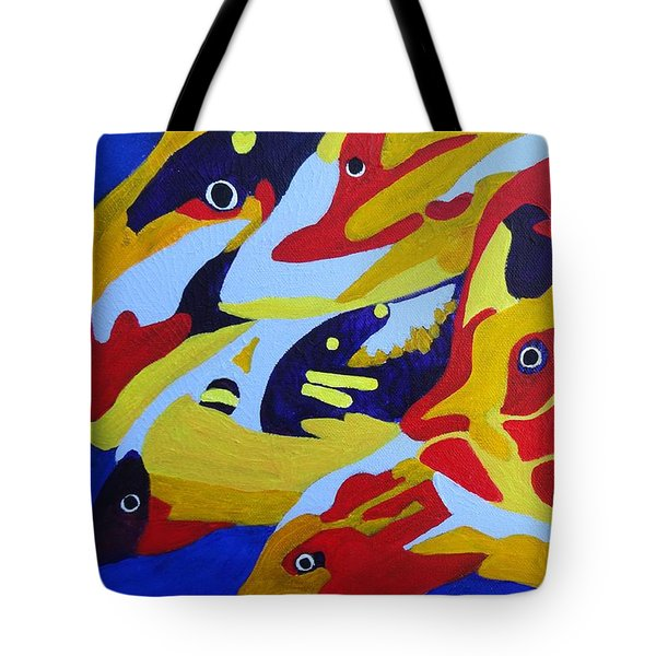 Fish Shoal Abstract 2 Tote Bag