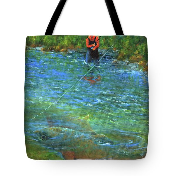 Fish Story Tote Bag by Jeanette French