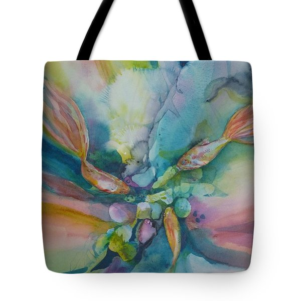 Fish Tales Tote Bag by Donna Acheson-Juillet