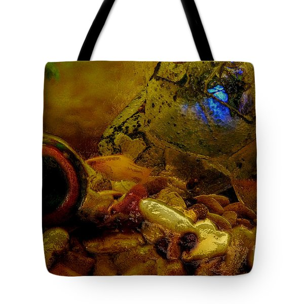 Tote Bag featuring the photograph Fish Tank Abstract by Cassandra Buckley