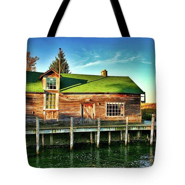 Fish Town Shanty  Tote Bag