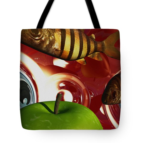 Fish Tripping Tote Bag by Richard Rizzo