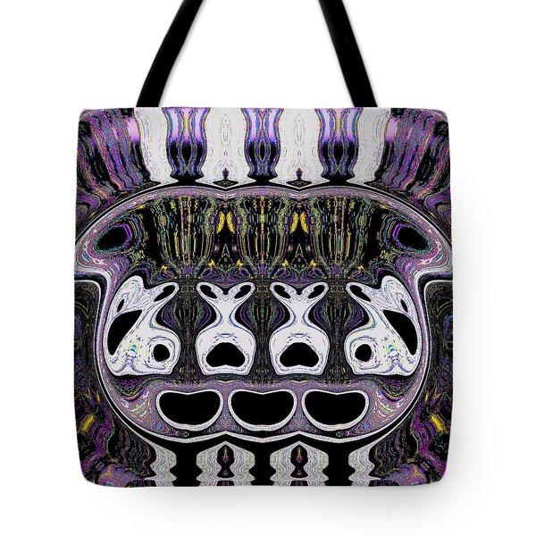 Tote Bag featuring the digital art Fishbowl by Visual Artist Frank Bonilla