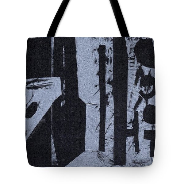Fisher Covers Reverse White On Black Tote Bag