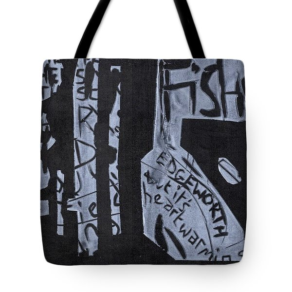 Fisher Covers White On Black Tote Bag