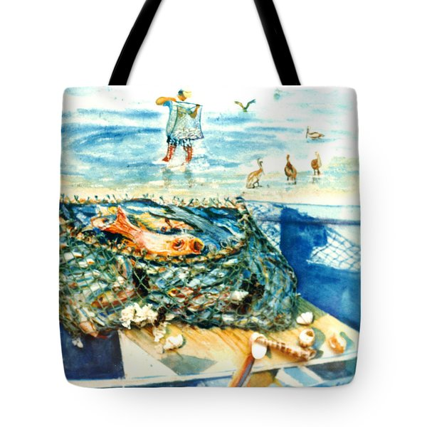 Fisherman And His Assistants Tote Bag by Estela Robles