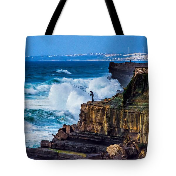 Fisherman And The Sea Tote Bag