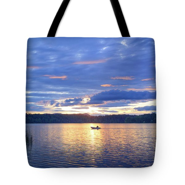 Fisherman Heading Home Tote Bag