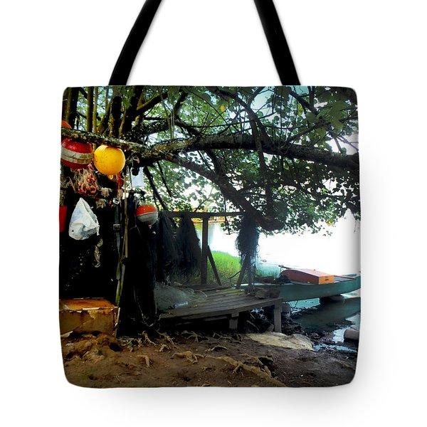 Fishing In Moorea Tote Bag