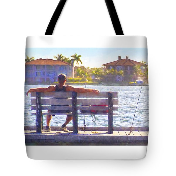 Fisherman Pass A Grille Florida Tote Bag