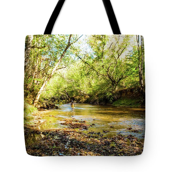 Tote Bag featuring the photograph Fisherman by Randy Sylvia
