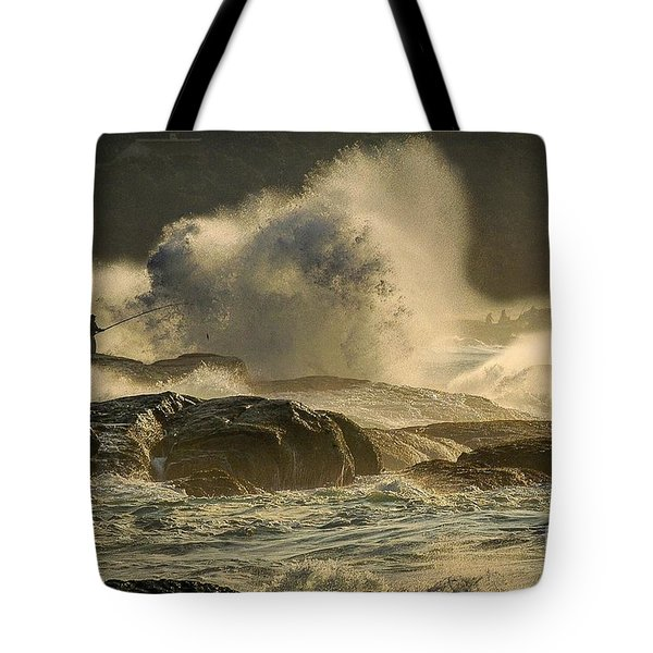 Fisherman Splash Tote Bag