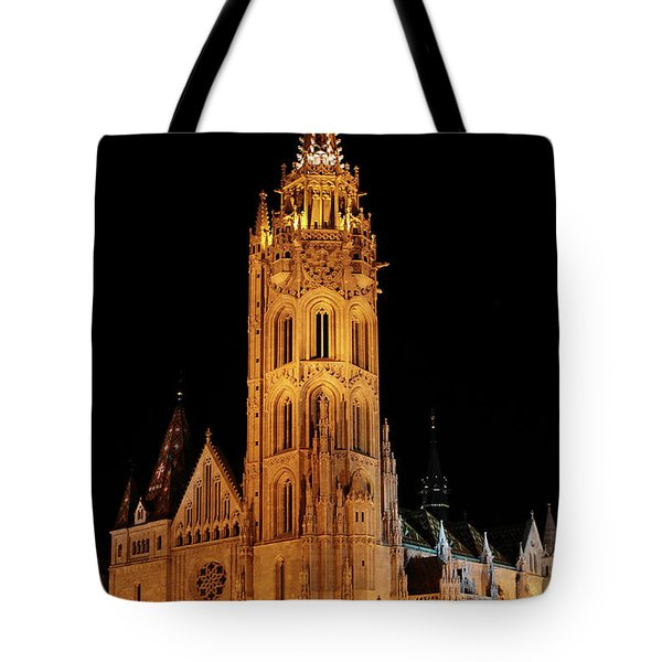 Tote Bag featuring the digital art  Fishermans Bastion - Budapest by Pat Speirs