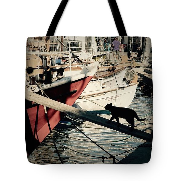 Fisherman's Cat  Tote Bag