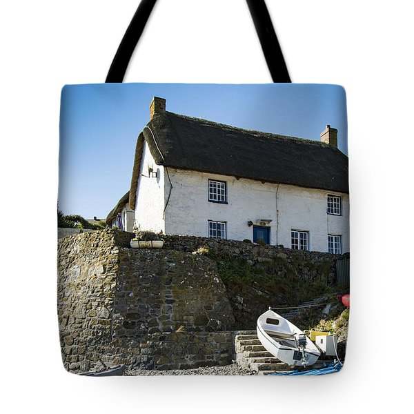 Tote Bag featuring the photograph Fishermans Cottage by Brian Roscorla