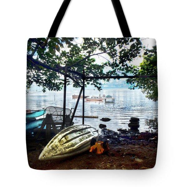 Fisherman's Cove In Moorea Tote Bag