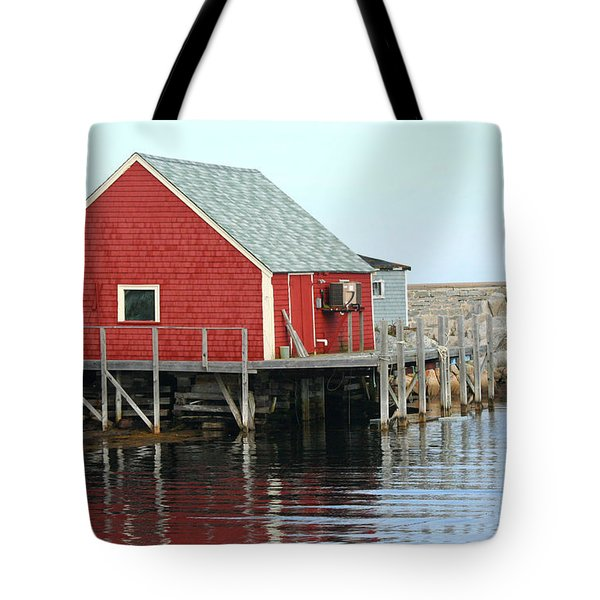 Fishermans House On Peggys Cove Tote Bag