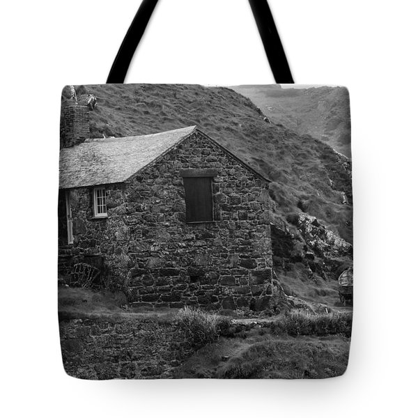 Tote Bag featuring the photograph Fishermans Net Shed by Brian Roscorla