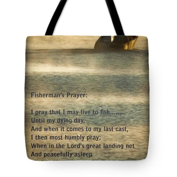 Fisherman's Prayer Tote Bag