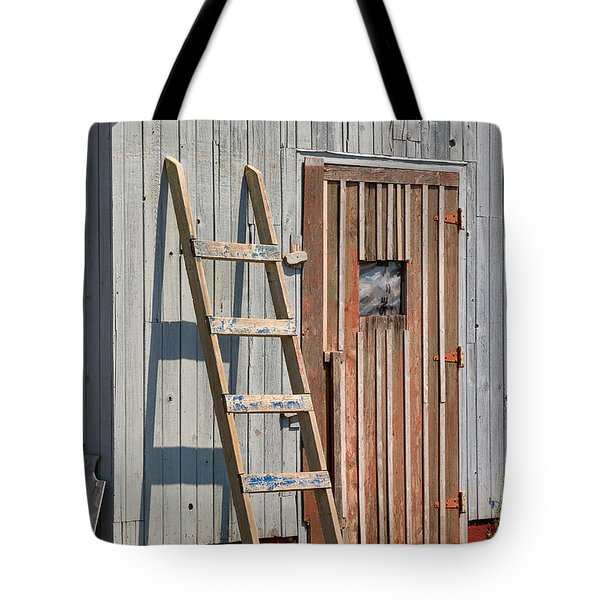 Fisherman's Shed In Prince Edward Island Tote Bag by Louise Heusinkveld