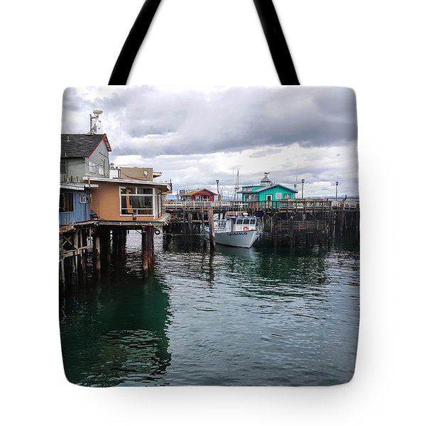 Tote Bag featuring the photograph Fisherman's Wharf Monterey II by Gina Savage
