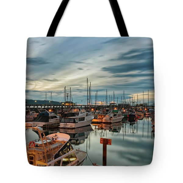 Tote Bag featuring the photograph Fishermans Wharf by Randy Hall