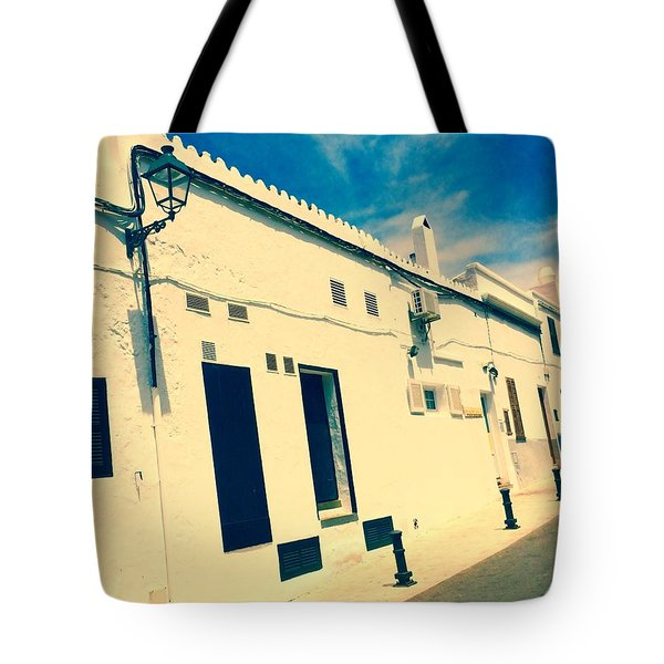 Fishermens' Cottages In Cuitadella Tote Bag