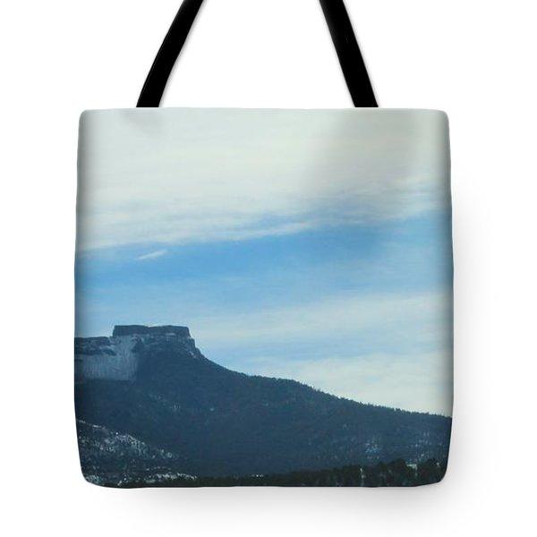 Fishers Peak Raton Mesa In Snow Tote Bag