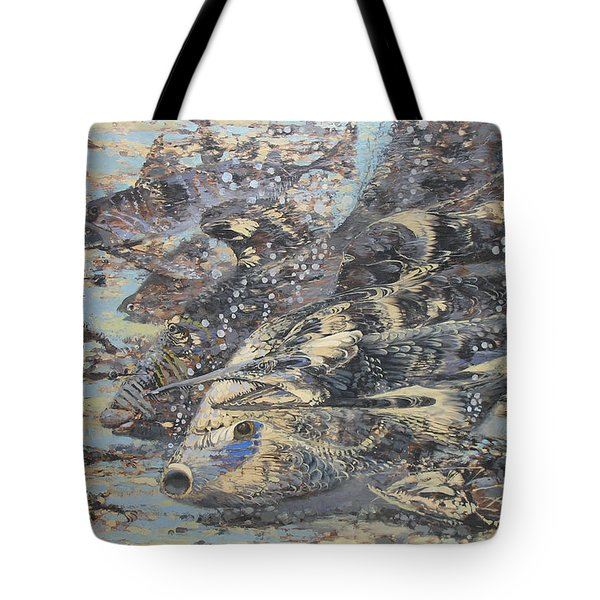 Fishes. Monotype Tote Bag