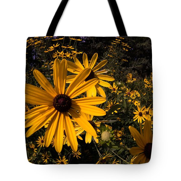 Tote Bag featuring the photograph Fisheye Flowers by Jay Stockhaus