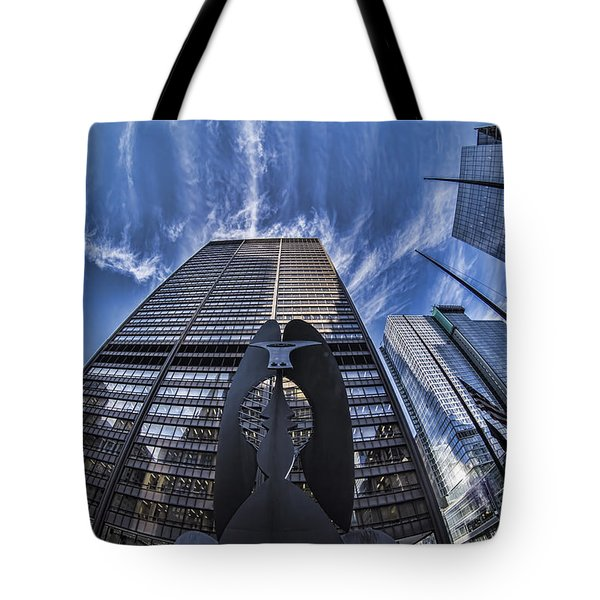 Fisheye View Of Chicago's Picasso Tote Bag