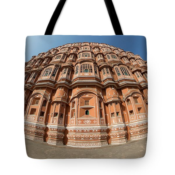 Tote Bag featuring the photograph Fisheye View Of Hawa Mahal by Yew Kwang
