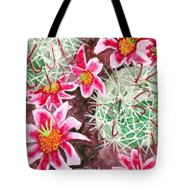 Tote Bag featuring the painting Fishhook Beauty by Eric Samuelson