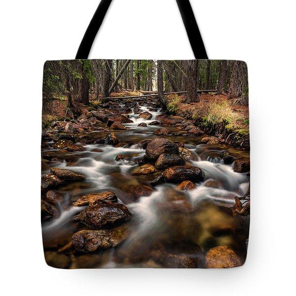 Fishhook Creek Waterscape Art By Kaylyn Franks Tote Bag
