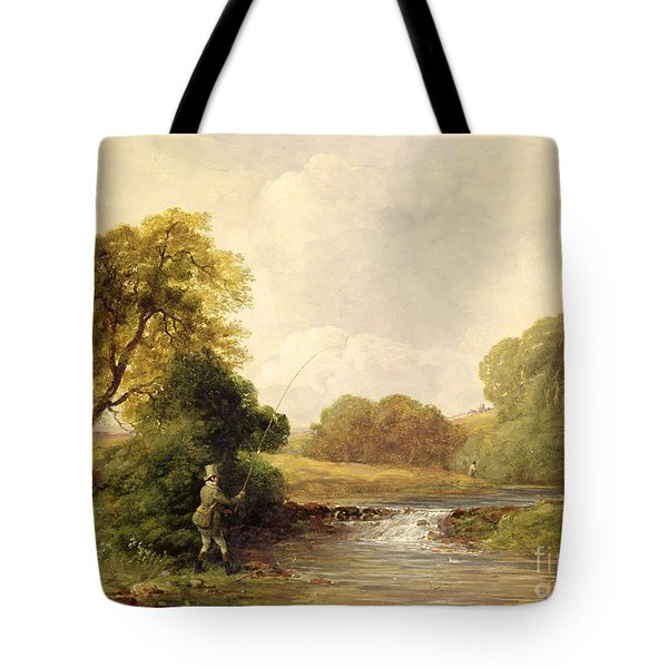 Fishing - Playing A Fish Tote Bag by William E Jones