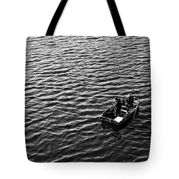 Tote Bag featuring the photograph Fishing by Adrian Pym