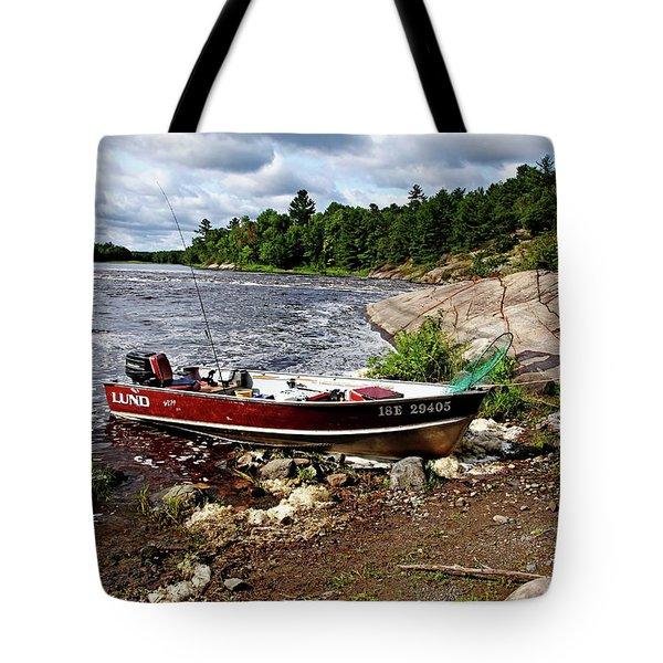 Fishing And Exploring Tote Bag