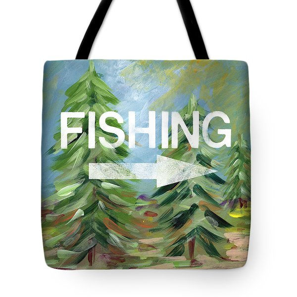 Fishing- Art By Linda Woods Tote Bag