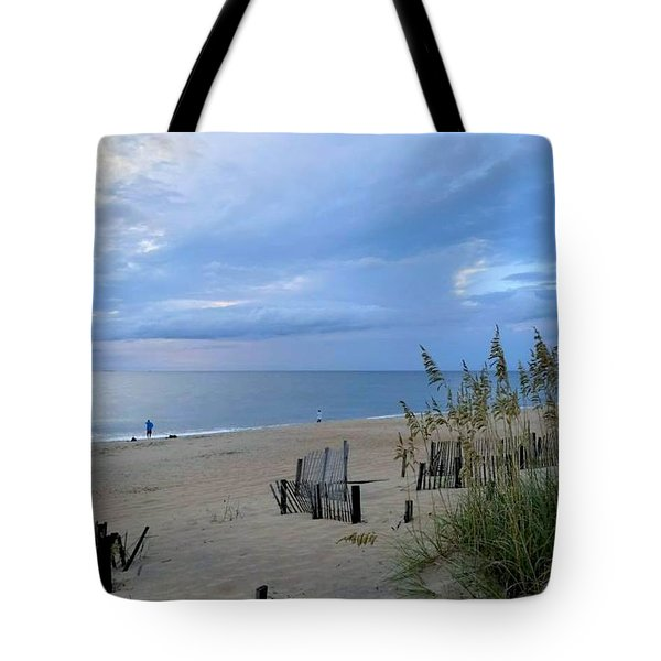 Tote Bag featuring the photograph Fishing At Fish Heads 8/19 by Barbara Ann Bell