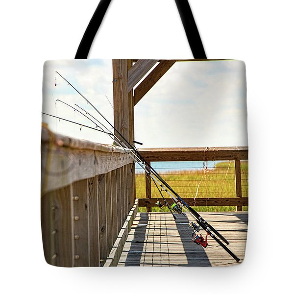 Fishing At Shem Creek Tote Bag