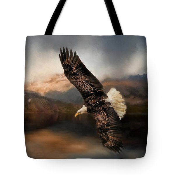 Fishing At The Mount Tote Bag