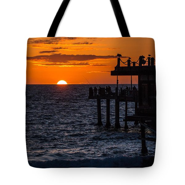 Fishing At Twilight Tote Bag