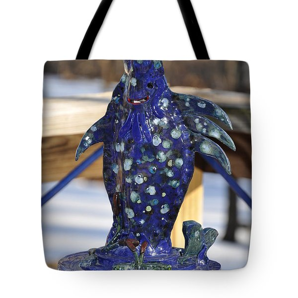 Fishing Blues Tote Bag by Terry Anderson