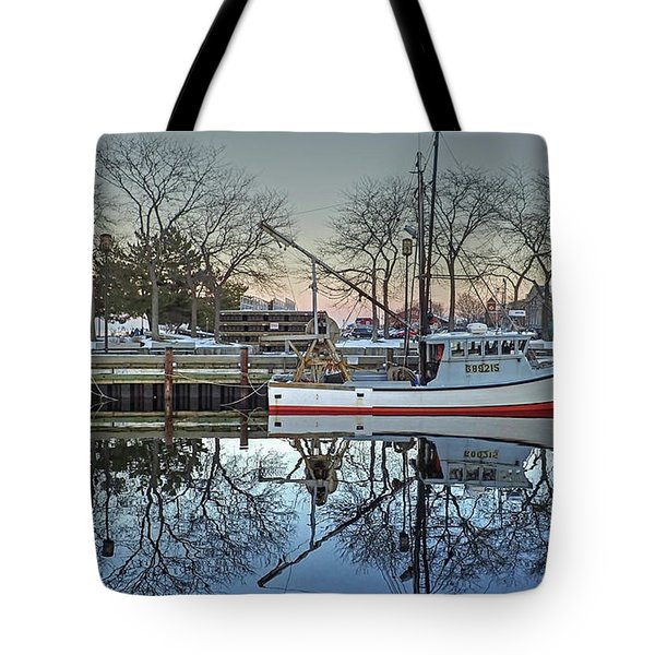 Tote Bag featuring the photograph Fishing Boat At Newburyport by Wayne Marshall Chase