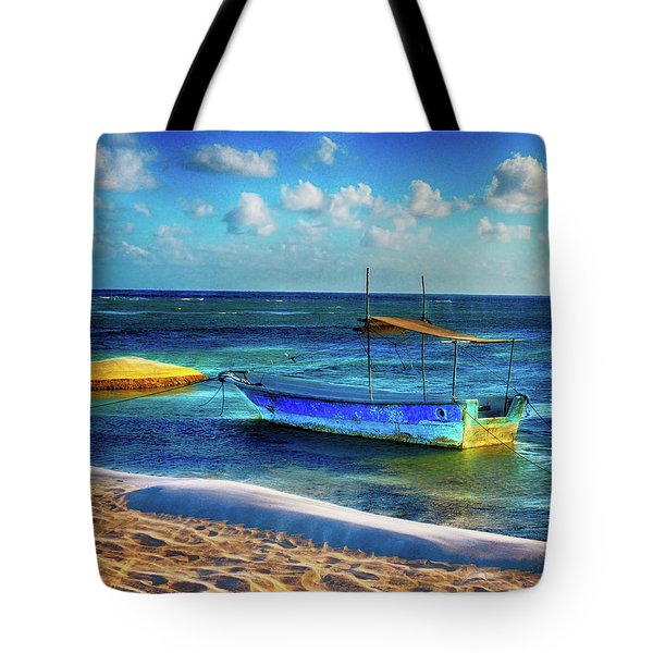 Fishing Boat At Rest Tote Bag