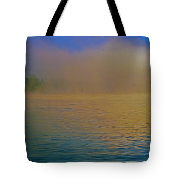 Fishing Boat Day Break  Tote Bag