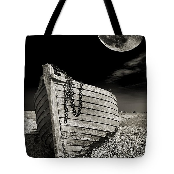 Fishing Boat Graveyard 3 Tote Bag by Meirion Matthias