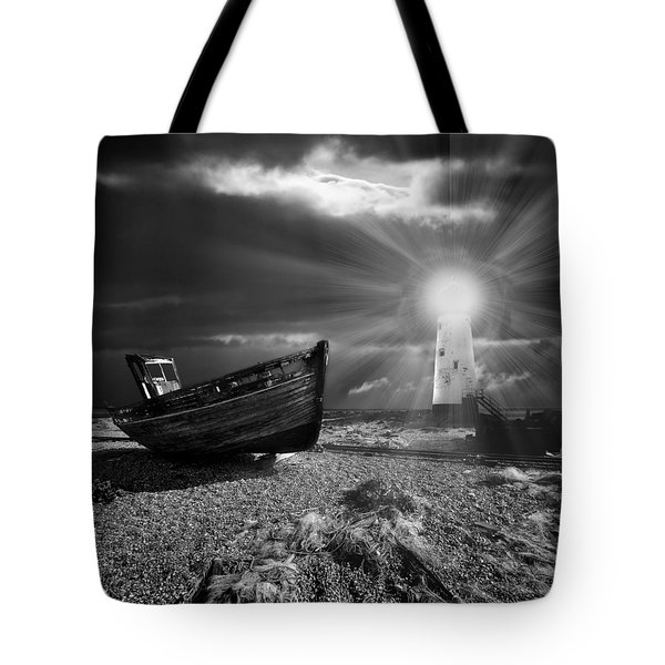 Tote Bag featuring the photograph Fishing Boat Graveyard 7 by Meirion Matthias