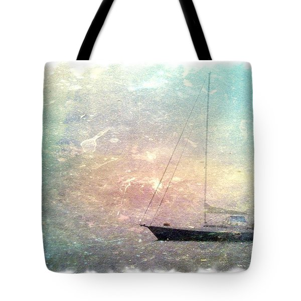 Fishing Boat In The Morning Tote Bag